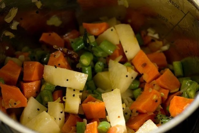 veggies for making veg sagu recipe
