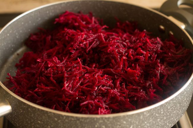 added grated beetroots
