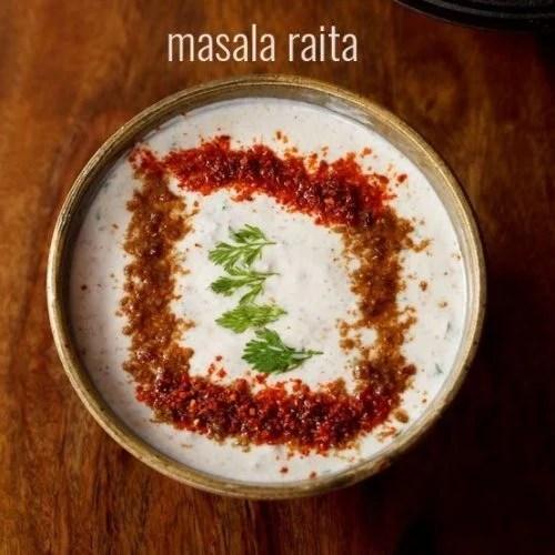 masala raita recipe, spiced raita recipe