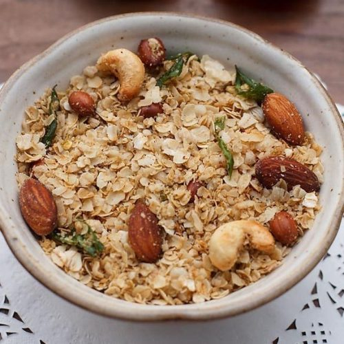 roasted oats chivda recipe