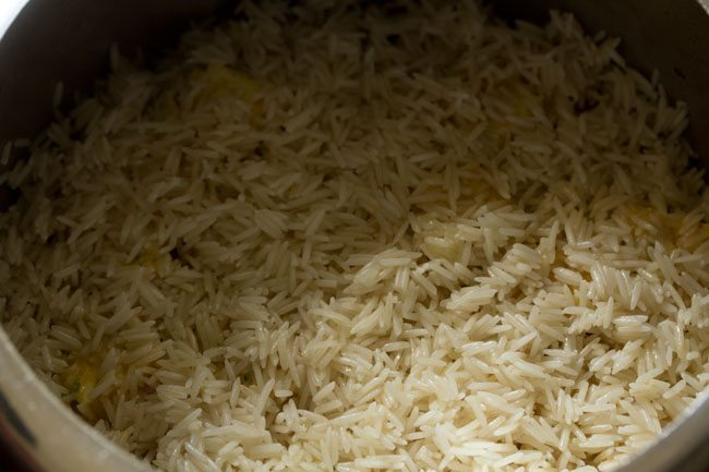 layering biryani - paneer biryani recipe in pressure cooker