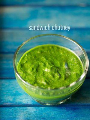 sandwich chutney recipe