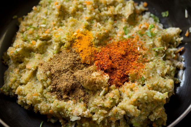 minced veggies to make veg kabab recipe