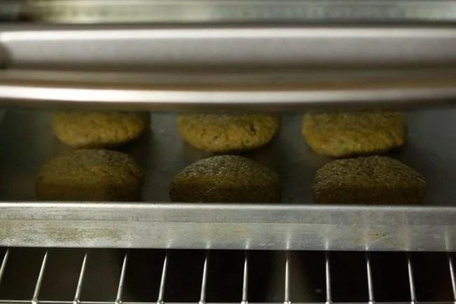 baking kabab - making veg kabab recipe