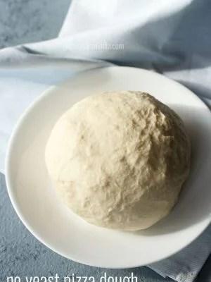 pizza dough, no yeast pizza dough