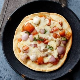 tawa pizza recipe, pizza without oven