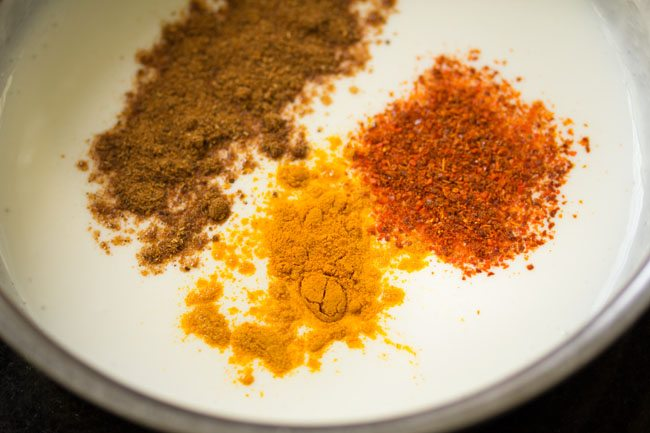 spices for mushroom biryani recipe in pressure cooker