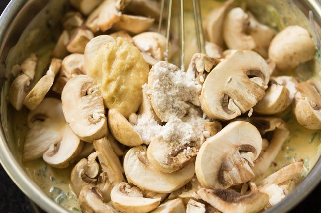 mushroom for mushroom biryani recipe