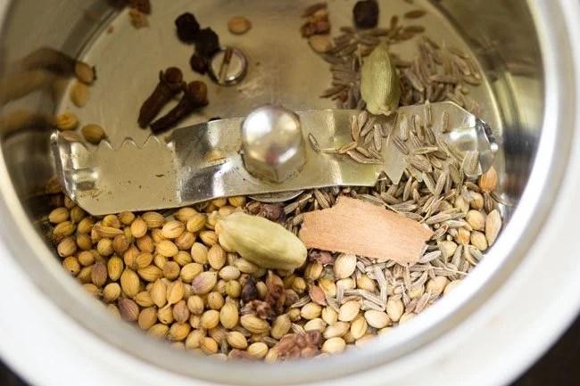 spices for veg masala recipe
