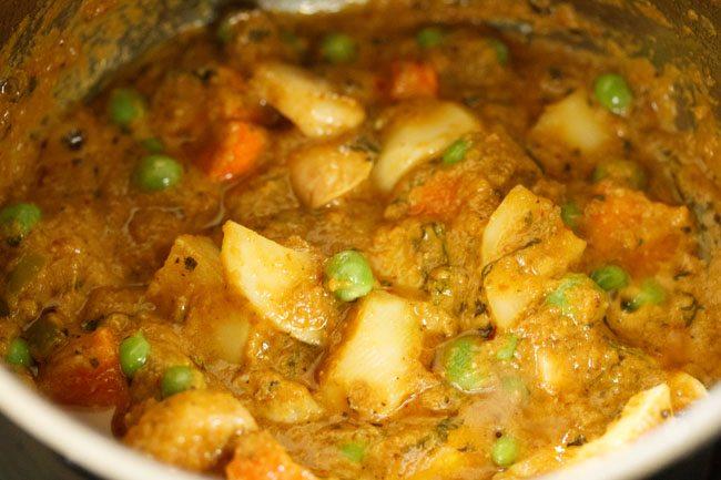 vegetables to make veg masala recipe