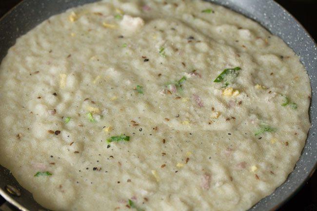 making dosa - butter rava dosa recipe