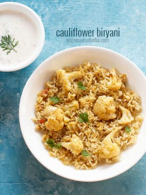 cauliflower biryani recipe