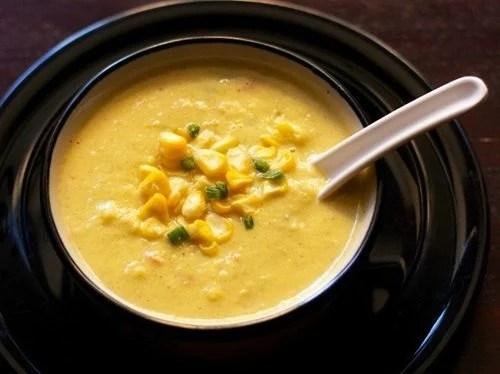 creamy corn vegetable soup recipe