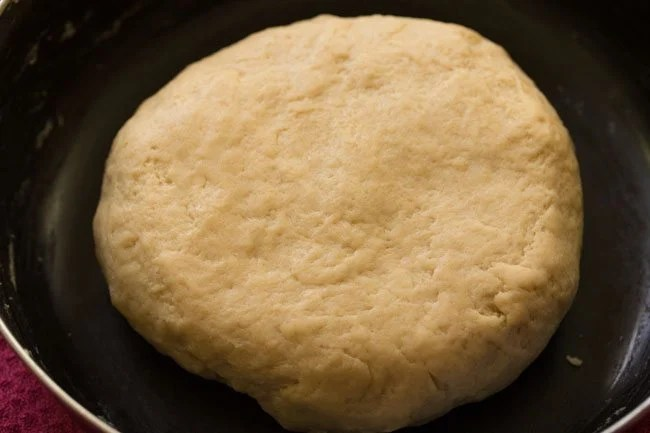 dough for preparing eggless doughnut recipe