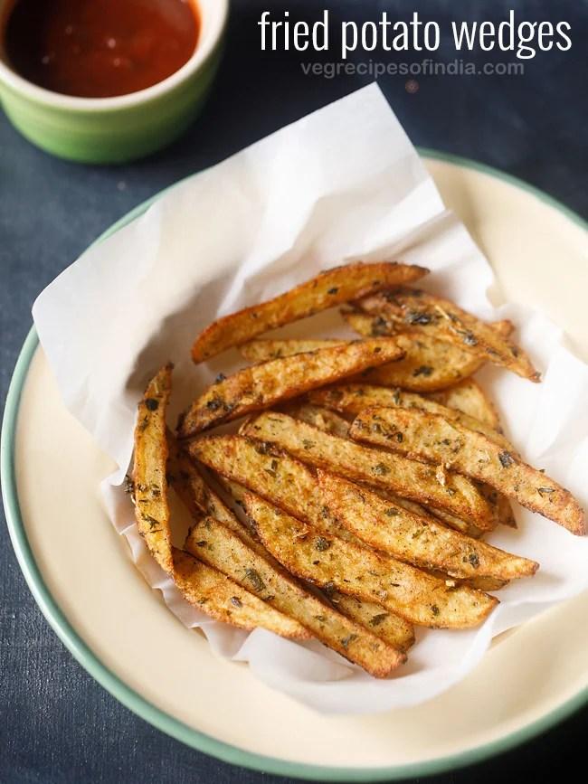 potato wedges, fried potato wedges
