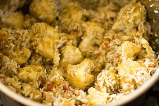 rice for preparing gobi biryani recipe