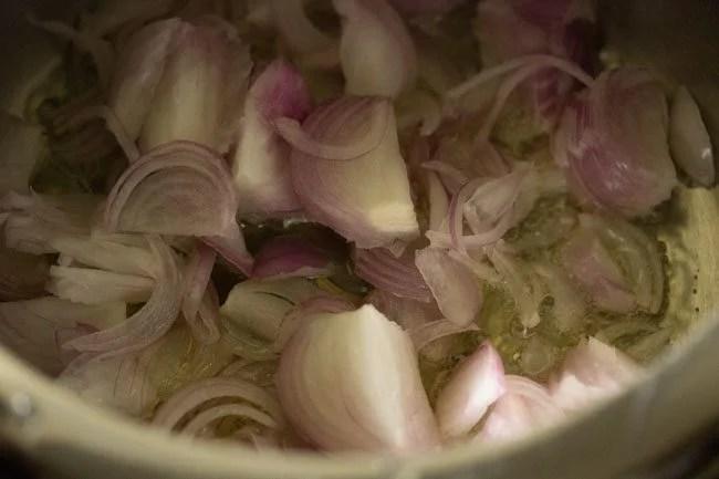 onions for veg biryani recipe Kolkata style