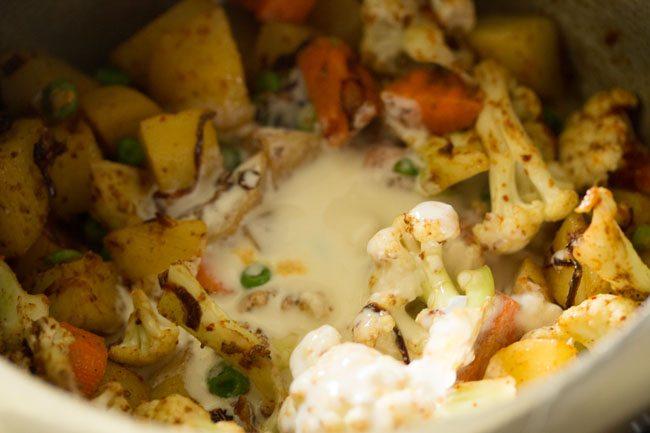 curd for Kolkata veg biryani recipe