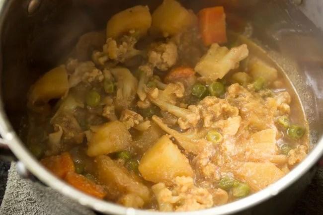 veg gravy for Kolkata veg biryani recipe