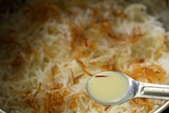 preparing Kolkata style veg biryani recipe