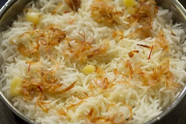 making Kolkata style veg biryani recipe