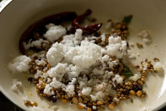 coconut for preparing mysore rasam recipe