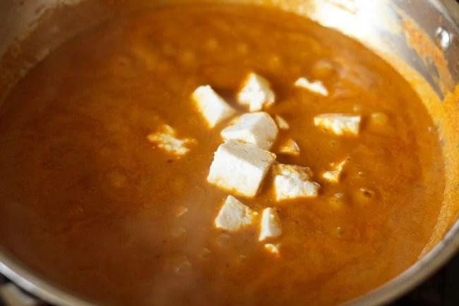 paneer for preparing paneer Kolhapuri recipe