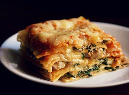spinach mushroom lasagna recipe