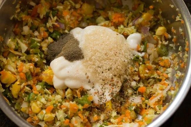 sugar to prepare veg coleslaw sandwich recipe