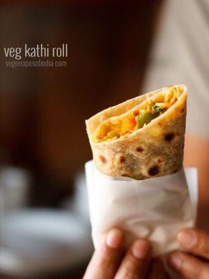 kathi roll, veg kathi roll recipe