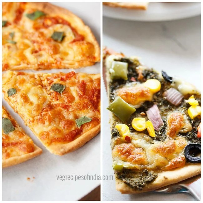 whole wheat pizzas