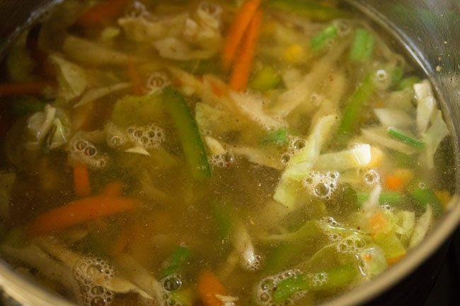 preparing 5 spice rice recipe