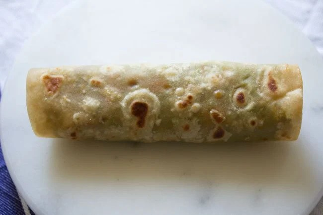 making paneer tikka wrap recipe