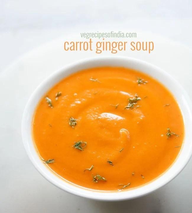 carrot ginger soup, carrot ginger soup recipe