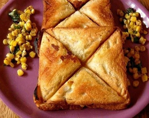 corn cheese toast recipe