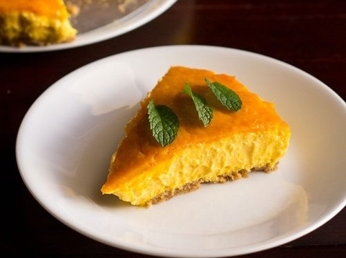 eggless mango cheesecake recipe
