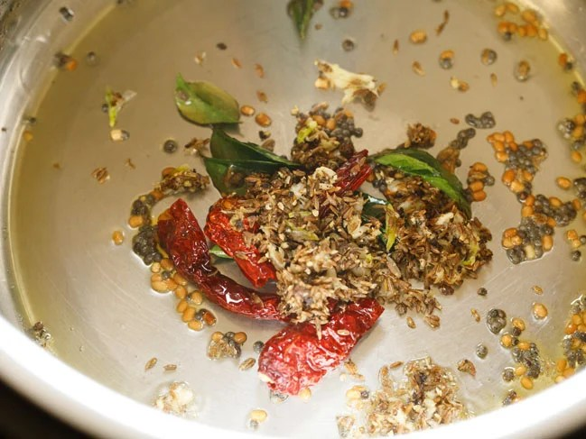 ground spices added to instant pot