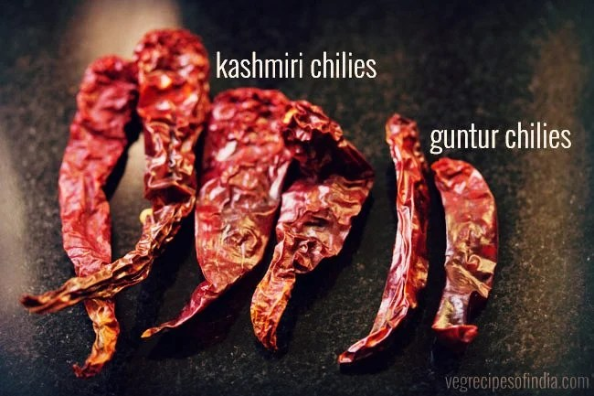 red chilies for paneer ghee roast
