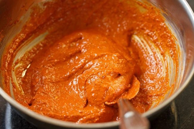 making paneer ghee roast recipe