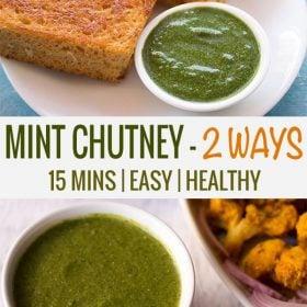 how to make mint chutney recipe