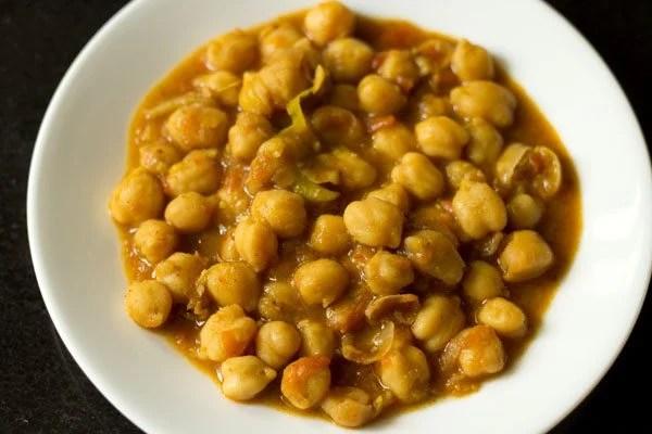 chana masala for making samosa chaat recipe