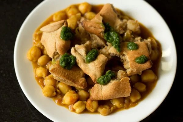 chana samosa chaat recipe