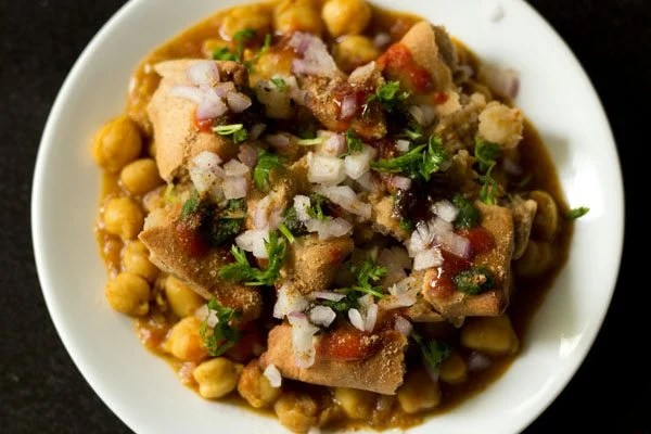 chole samosa chaat recipe