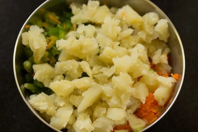 potato to make veg mayo sandwich recipe