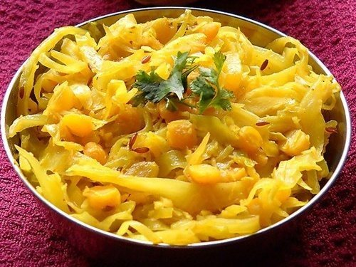 cabbage chana dal sabzi recipe