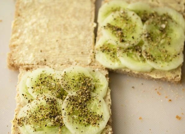 making cucumber sandwich recipe