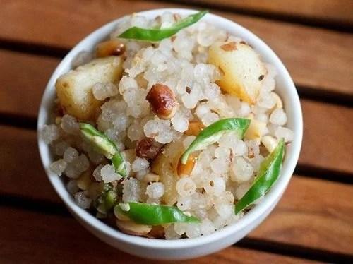 spicy sabudana khichdi recipe