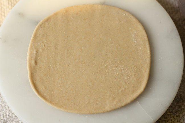 preparing cheese garlic naan recipe