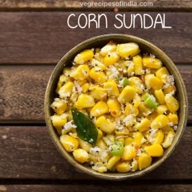 corn sundal recipe, sweet corn sundal