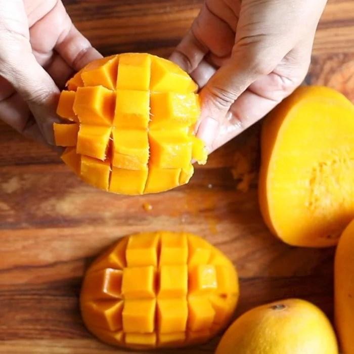easy mango ice cream with condensed milk